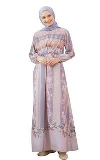 Long Dress Hijabwanitacantik - Fresia Dress | Dress Printing Exclusive | Gamis Pakaian Muslim