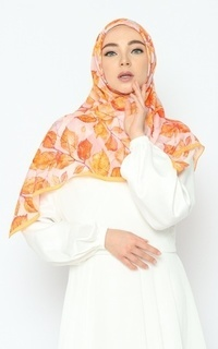 Printed Scarf Nature Series - Autumn Leaves Pure Tencel Scarf