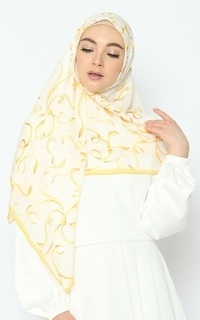 Printed Scarf Nature Series - Romantic Gold Pure Tencel Scarf