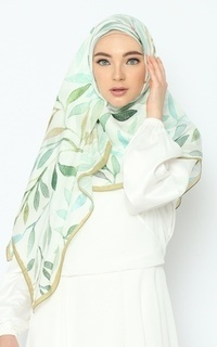 Printed Scarf Nature Series - Shade of Green Pure Tencel Scarf