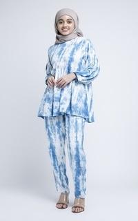 Setelan MFMW Dalinah Set Biru Tie Dye