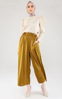 Celana Flowy Wide Pants - Brown