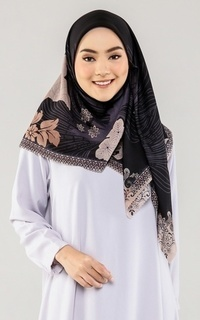 Printed Scarf Voal Hijab Floral Pattern Ethnic Flower