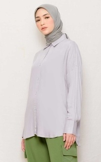 Blouse MECCANISM - ZIERA TOP SILVER
