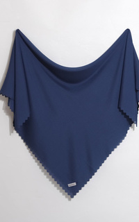 Plain Scarf The Pure Series - Navy