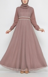 Gamis Claire Dress Taupe
