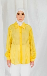 Blouse MECCANISM - BIANCA TOP YELLOW
