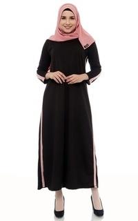 Long Dress Mybamus Casual Line Dress Black M14523 R81S3