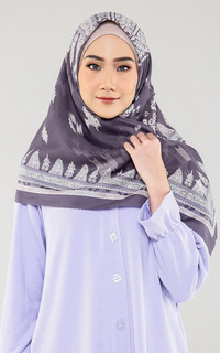 Printed Scarf Voal Hijab Ethnic Floral Pattern