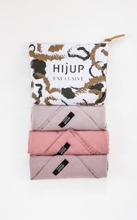 Hijab Polos Plain Voal Trio Set