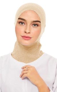 Scarf Cap Ninja Inner Rajut Premium Light Skin Tone
