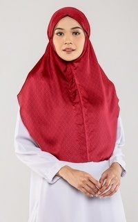 Hijab Instan The Tapis Slip On - Red