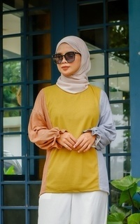 Blouse Tres Wrinkle Tops MUSTARD M15893 R74S4