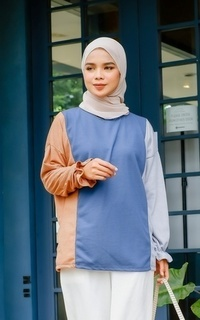 Blouse Tres Wrinkle Tops NAVY M15894 R74S3