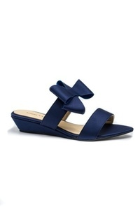 Shoes RIBBON BOW SLIPPERS LOW WEDGES