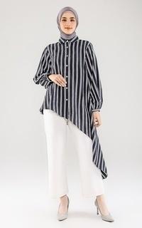 Blouse Liana Asymmetrical Top - Black