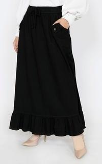 Rok Long Skirt Denim Nada