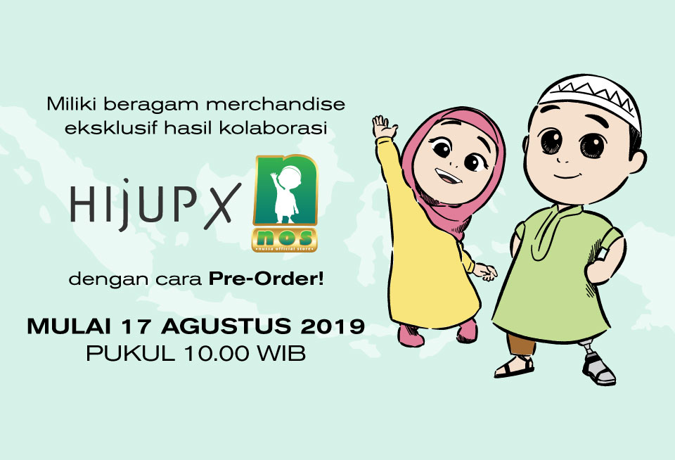 Cara Pre Order Exclusive Official Merchandise HIJUP X Nussa