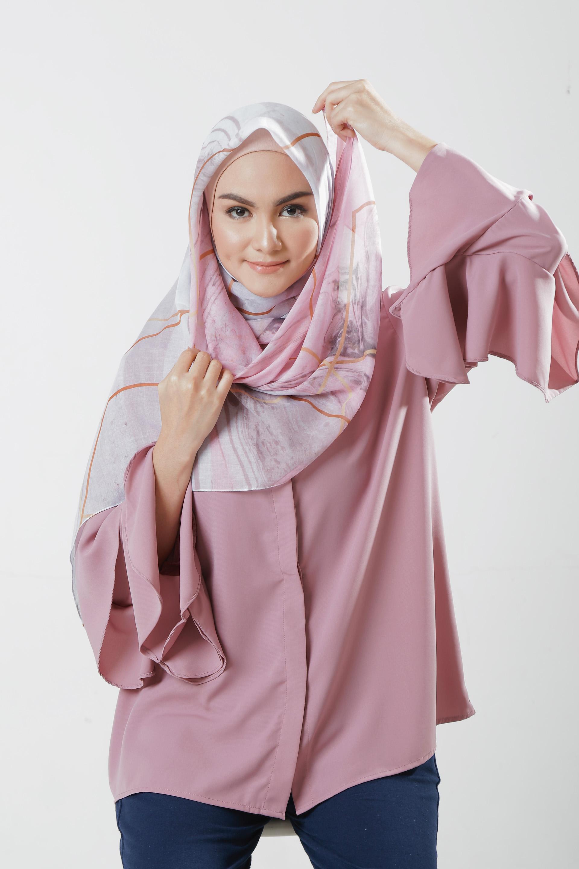 Tutorial Jilbab Segi Empat untuk ke Kantor - step 7