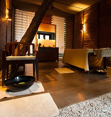 Cosy treatment rooms are a necessity at the Sanda Spa
