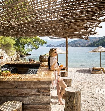 Sunny Bar Near Sea