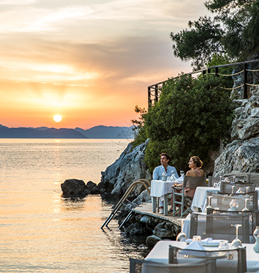 Sunset Dinner At Beach Bar In Fethiye