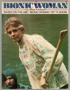 Bionic Woman Coloring Book #15010 1976-Lindsay Wagner-TV series-FN+