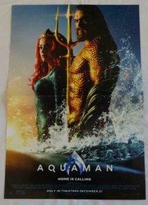 AQUAMAN Promo Poster , 11 x 17, 2018, DC, Unused more in our store 065