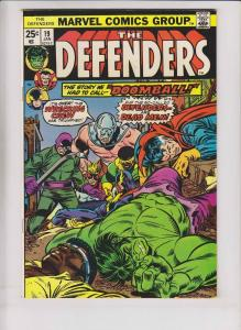 Defenders [1975 Marvel] #19 VF luke cage power man - 3rd wrecking crew - w/stamp