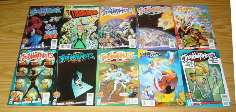 Troublemakers #1-19 VF/NM complete series + variant + retailer review copy - set