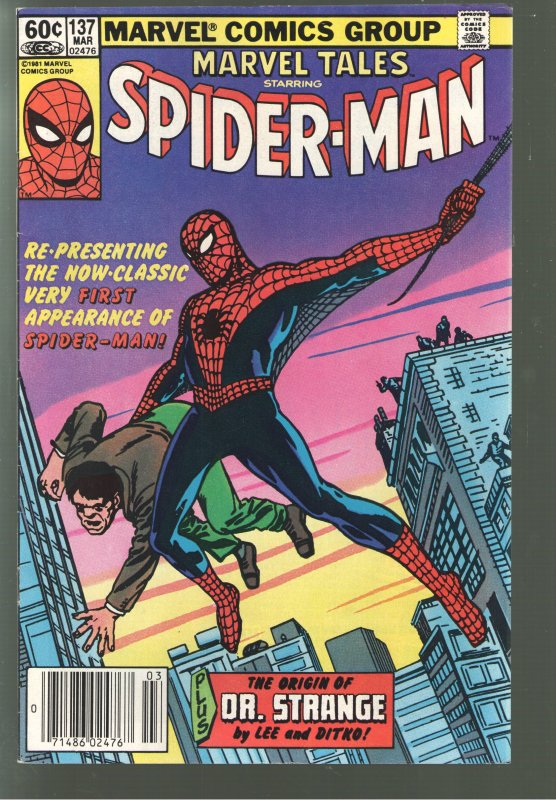 EVERYTHING SALE CONTINUES!!MARVEL TALES 137 VF 8.0 -AF#15 EARLY REPRINT.