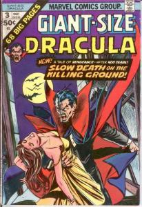 TOMB OF DRACULA GIANT SIZE 3 FN  Dec. 1974 COMICS BOOK