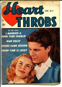 Heart Throbs #11 1952-Quality-terrific art-photo cover-VG