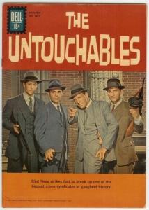 UNTOUCHABLES (1961-1962 DELL) F.C.1237 VG+ photo cover: COMICS BOOK