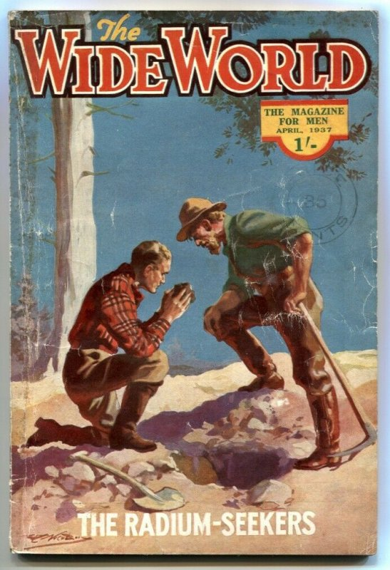 The Wide World Pulp April 1937- Radium Seekers- Tiger-Men Siam