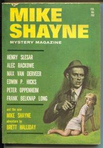 Mike Shayne Mystery 2/1965-hardboiled pulp thrills-Brett Halliday-VG