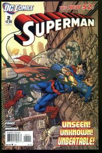 SUPERMAN #2 2011--NEW 52-EARLY ISSUE-NM