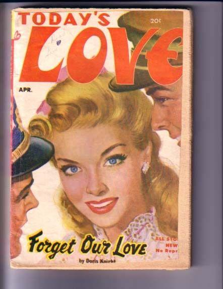 TODAY'S LOVE-APRIL 1952-GREAT COVER-RARE VG