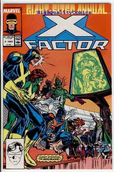 X-FACTOR Annual #2, VF+, Inhumans, X-men, Marvel Girl, 1986, more XF in store