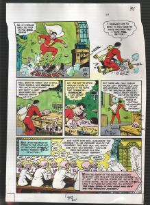 Hand Painted Color Guide-Capt Marvel-Shazam-C35-1975-DC-page 31-Dr Sivana-G