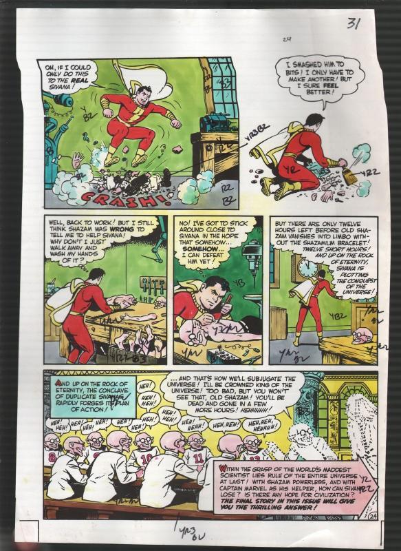 Hand Painted Color Guide-Capt Marvel-Shazam-C35-1975-DC-page 31-Dr Sivana-G