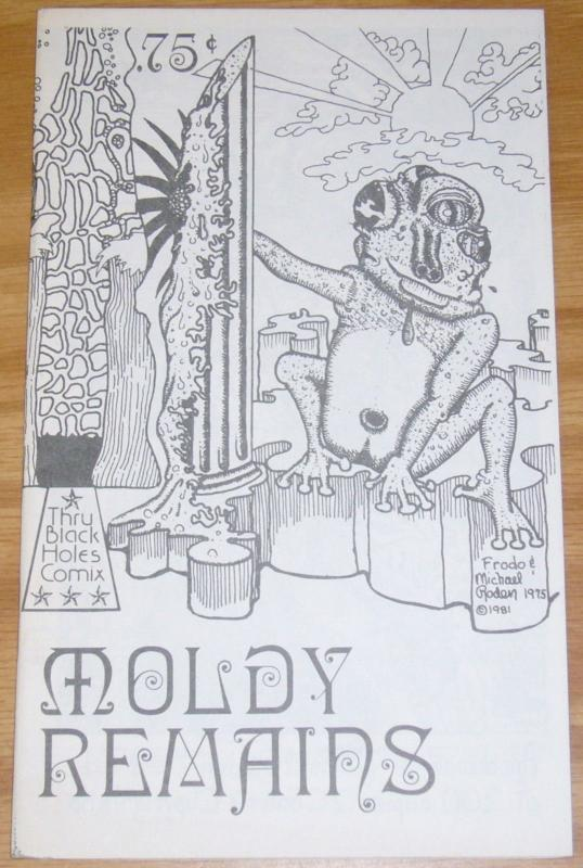Moldy Remains #1 VF michael roden THRU BLACK HOLES COMIX 1981 ONLY 200 PRINTED