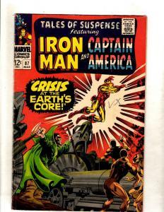 Tales Of Suspense # 87 FN Marvel Comic Book Iron Man Captain America Hulk JL15