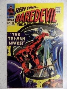 DAREDEVIL # 22 MARVEL SILVER FEAR ACTION ADVENTURE HI GRADE VF