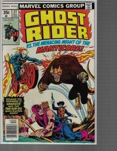 Ghost Rider #27 (Marvel, 1977) VF+