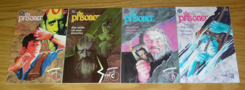 the Prisoner #1-4 VF/NM complete series TV SHOW SEQUEL dean motter 1988 DC COMIC