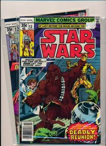 Marvel Comics STAR WARS Jan #12 Doomworld & #13 Deadly Reunion  F/VF(PF305)