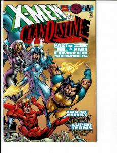 6 Clandestine Marvel Comic Books # 1 2 3 Preview X-Men/Clandestine # 1 2 TW40