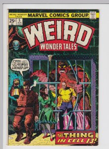 Weird Wonder Tales #5 (Aug 1974) 8.0 VF Marvel Horror