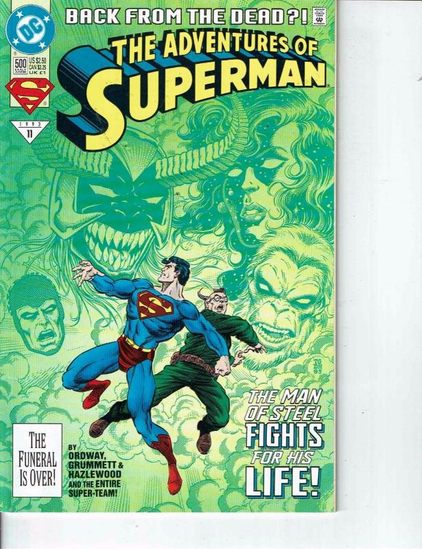 Lot Of 2 Comic Books DC Adventures of Superman #501 and #500 Batman  ON8